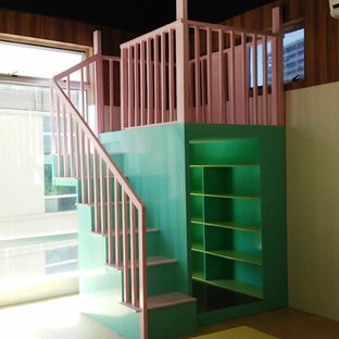 Transforming an office space into a playful and colorful preschool