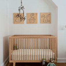 Transitional Nursery by indi interiors