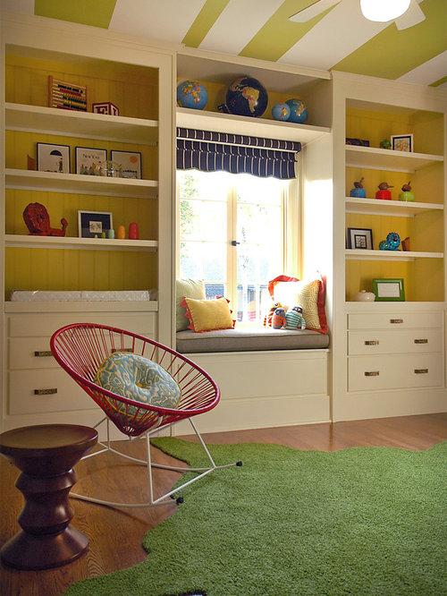 Nursery organization space saving : Window seat ideas in kids rooms