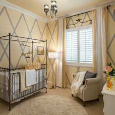 Transitional Nursery by Maracay Homes Design Studio