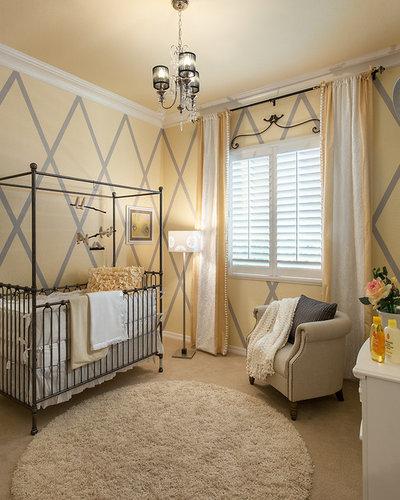 Transitional Nursery by Maracay Homes Design Studio