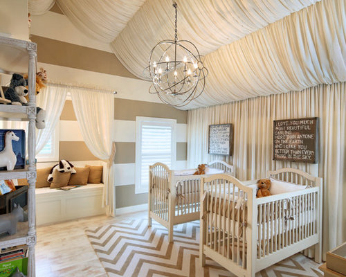 Inspiration for a mid-sized contemporary gender-neutral light wood floor nursery remodel in & Nursery Lighting | Houzz azcodes.com