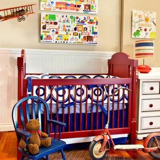 Foto di una cameretta per neonati minimal