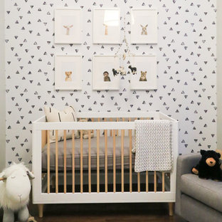 Nursery - small modern gender-neutral nursery idea in New York