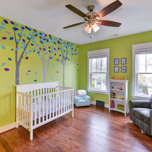 Inspiration for a large craftsman nursery remodel