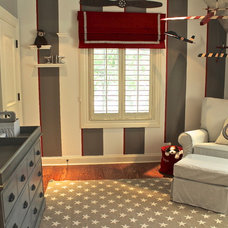 Transitional Nursery by Steffanie Danby Interiors