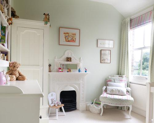 Chambre de b b fille avec un sol en moquette photos for Moquette chic