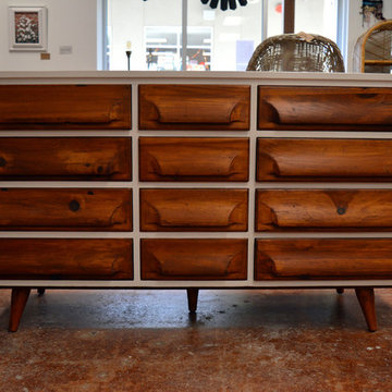 Two-Tone Mid-century Console