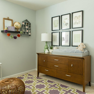 Medium sized traditional nursery in Charlotte.