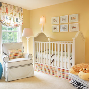 Inspiration For A Mid Sized Timeless Gender Neutral Carpeted And Beige Floor Nursery Remodel