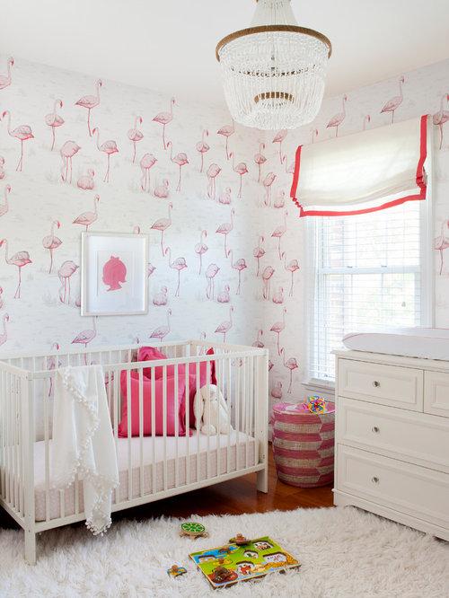 exemple dune chambre de bb fille chic de taille moyenne avec un mur multicolore - Chambre Multicolore Fille