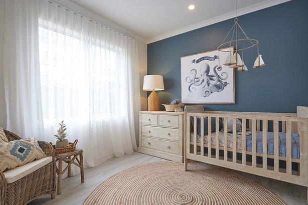 Beach Style Nursery by JG King Homes