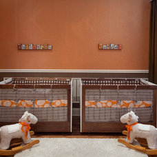 Transitional Nursery by Anne Rue Interiors