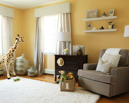 Yellow And Grey Nursery Houzz
