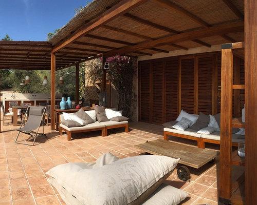Foto e idee per patii e portici patio o portico con una for Idee di portico contadini