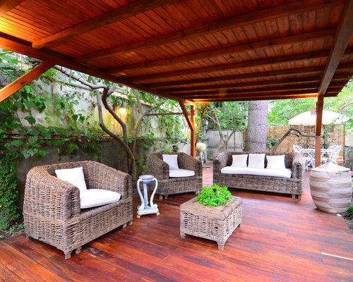 Foto e idee per patii e portici patio o portico tropicale for Idee di portico contadini