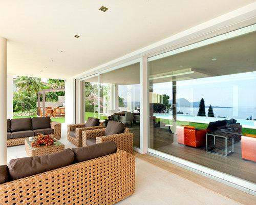 Foto e idee per patii e portici patio o portico moderno for Bocchio serramenti