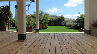 Pavimentazione in legno per terrazzo