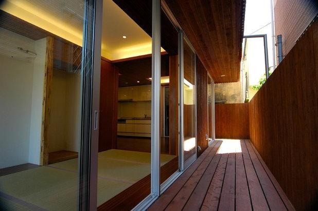 和室・和風 テラス・中庭 by 仲摩邦彦建築設計事務所
