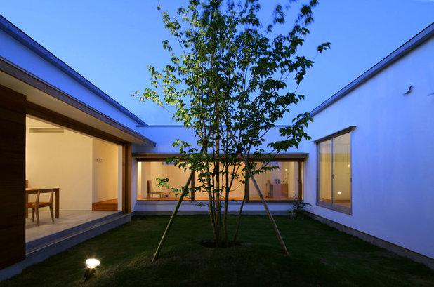 モダン テラス・中庭 by 松原建築計画/matsubara architect design office