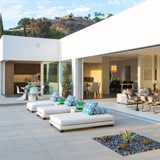 Midcentury Patio by Meridith Baer Home