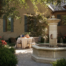 Mediterranean Patio by Tiffany Farha Design
