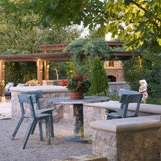 Mediterranean Patio by Tiffany Farha Design