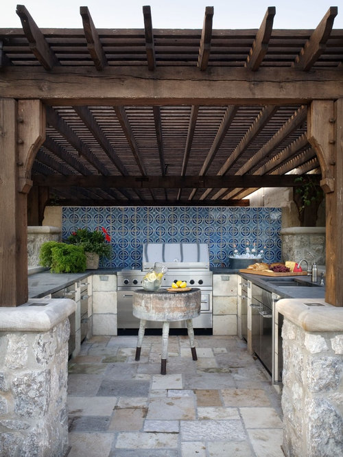 Inspiration For A Mediterranean Patio Kitchen Remodel In Wichita