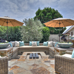 Beach style patio photo in Los Angeles with no cover