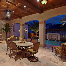 Mediterranean Patio by Keesee and Associates, Inc.