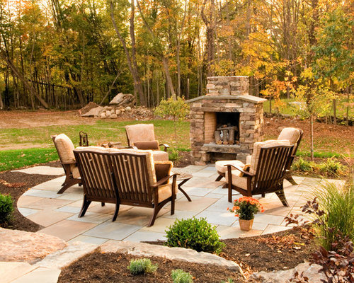 Small Outdoor Fireplace Home Design Ideas, Pictures ... on Small Outdoor Fireplace Ideas id=19184