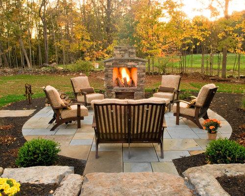 Outdoor Fireplace Design Ideas contemporary stone outdoor fireplace design with wooden shelf also succulent planter decor put on permanent bench Natural Stone Outdoor Fireplace Ideas Home Design Photos