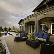 Mediterranean Patio by Lawrence Architecture, Inc.