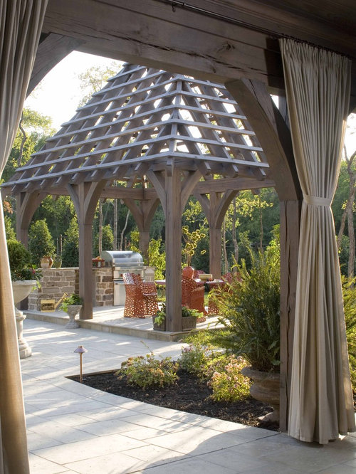 How to build pergola roof houzz for Pergola images houzz