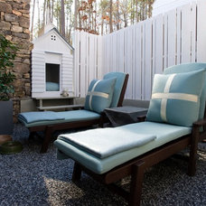 Transitional Patio by Kemp Hall Studio