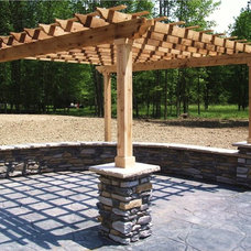 Traditional Patio by Hudecek Cement
