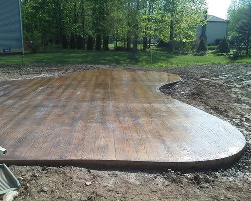 Stamped Concrete Wood Houzz