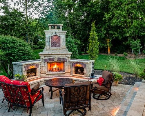 Unilock Fireplace   Houzz