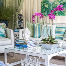 Traditional Patio by Kim E Courtney Interiors & Design Inc