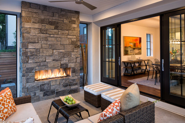 Transitional Patio by Highmark Builders