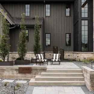 Inspiration for a farmhouse patio remodel in Minneapolis