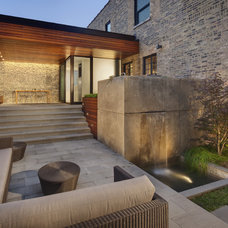Contemporary Patio by Blender Architecture