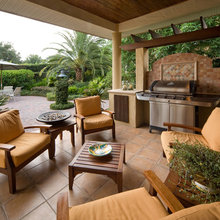 patio, landscapes and barbeque