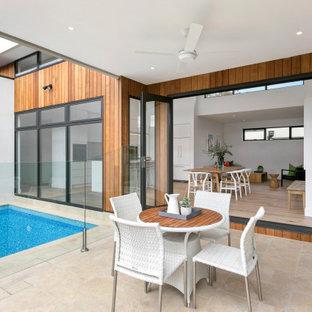 Design ideas for a contemporary patio in Melbourne.