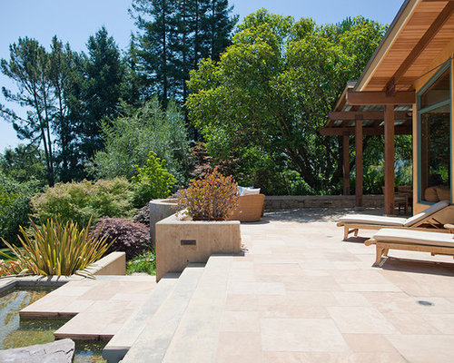 Inspiration For A Mid Sized Contemporary Backyard Patio Fountain Remodel In  San Francisco