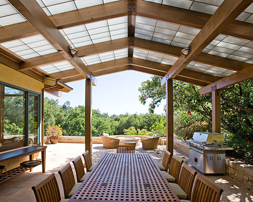 Pergola with roof design ideas remodel pictures houzz for Pergola images houzz