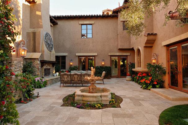 Mediterranean Patio by Elevation Architectural Studios