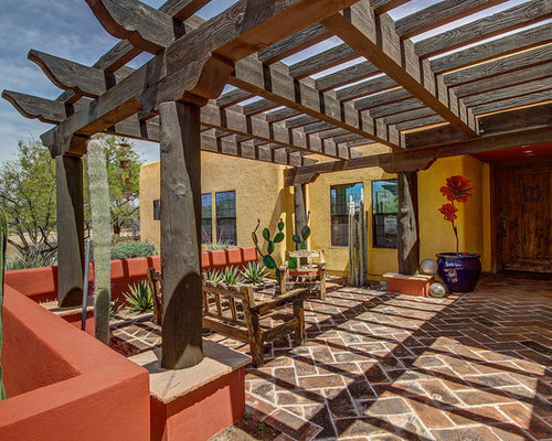 Southwestern outdoor design ideas remodels photos with for Southwest pergola