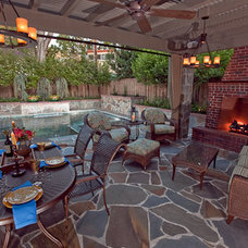 Traditional Patio by Chris Merenda-Axtell Interior Design