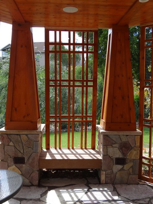Vertical Garden Design With Gazebo Installation Craftsman Patio Vertical Garden Ideas